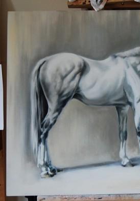 Beau ~ in Progress! 24 x 36 oil on Panel
