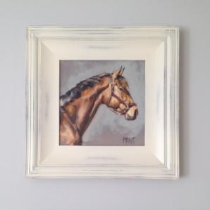 """Fleur, Head study, framed up, 10""""x10"""", Oil on Canvas"""