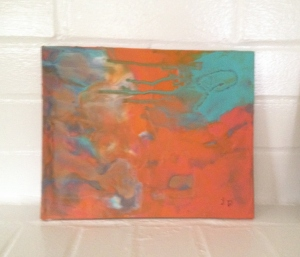 2nd of first Encaustic attempt. I like the first one is better, but it's part of the learning curve