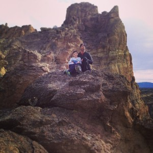 My family, Hiking at Smith Rock State Park on my 40th