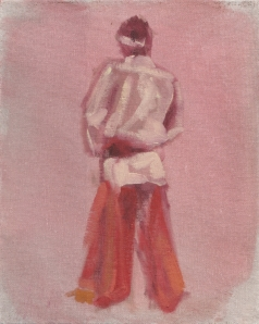 Live Figure Oil Sketch from Day One. This session took place indoors.
