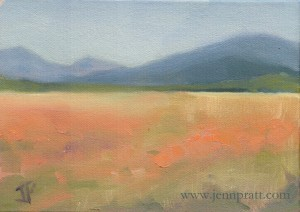 Klamath Basin #1, 5x7 oil on canvas panel