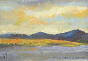 "Klamath Basin #2x 5""x7"" Oil on Canvas Panel"