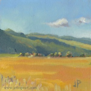 "Klamath Basin #3, 6""x6"", Oil on Canvas Panel"